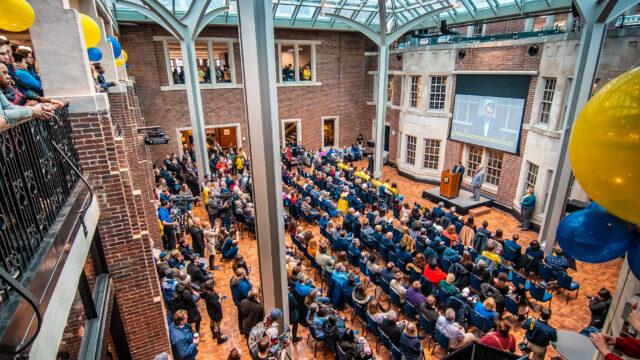 Union reopening celebration on Jan. 13