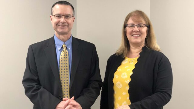 CLOSUP's Tom Ivacko and Debra Horner at the Wolverine Caucus on Feb. 25, 2020