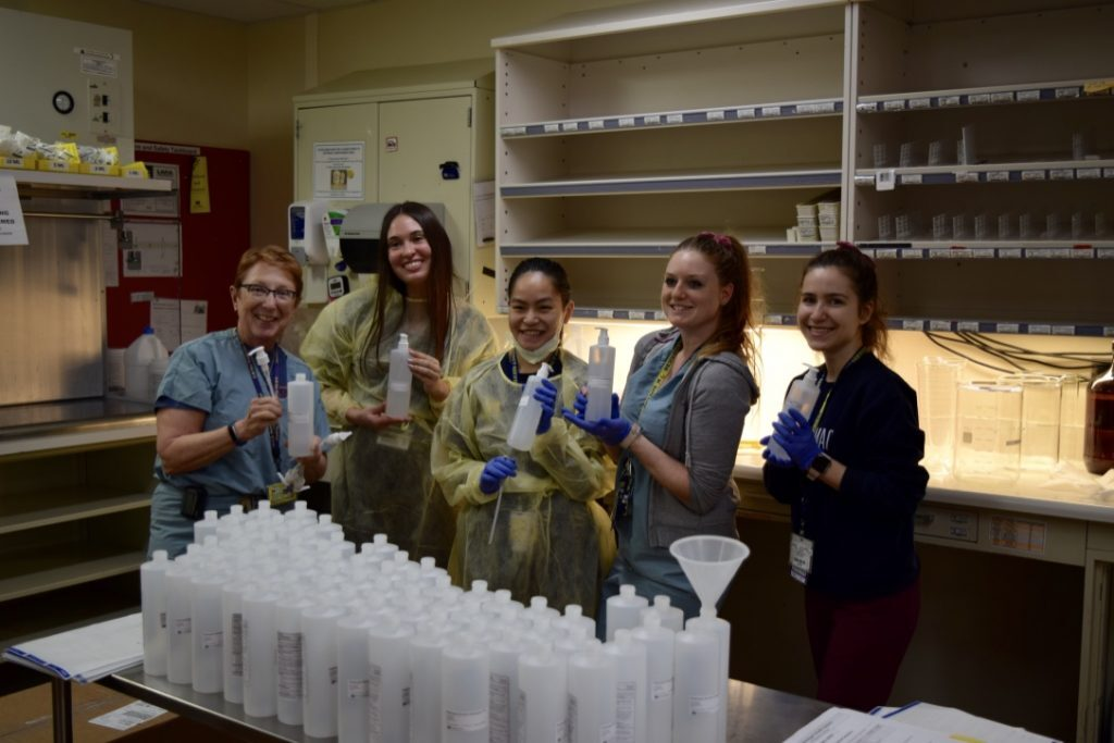 Pharmacy faculty, students make hand sanitizer